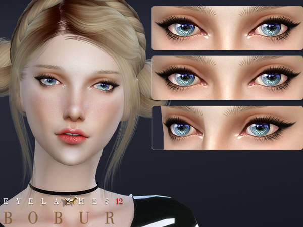 Sims 4 Eyelashes 12 by Bobur3 at TSR