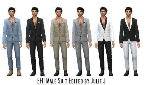 EF11 Male Suit Edited at Julietoon – Julie J image 1645 Sims 4 Updates