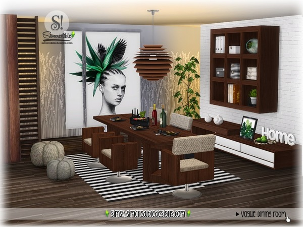 Vogue dining set by SIMcredible at TSR image 1652 Sims 4 Updates