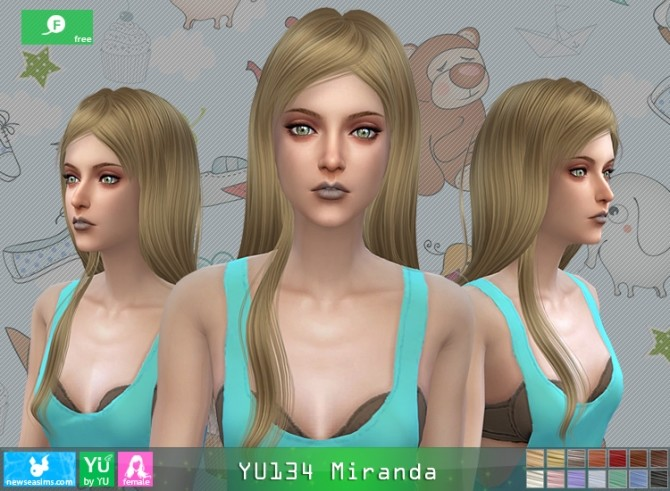 YU134 Miranda hair at Newsea Sims 4 image 1661 670x491 Sims 4 Updates