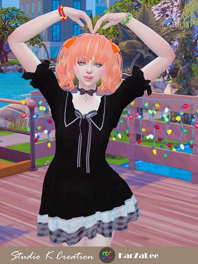 Animate hair 76 Maiko at Studio K Creation image 1664 670x893 Sims 4 Updates