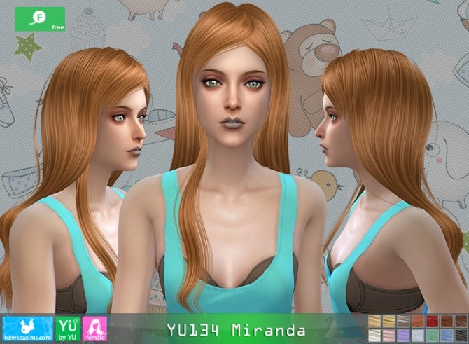 YU134 Miranda hair at Newsea Sims 4 image 1671 670x491 Sims 4 Updates