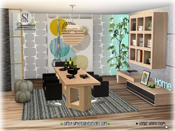 Vogue dining set by SIMcredible at TSR image 1672 Sims 4 Updates