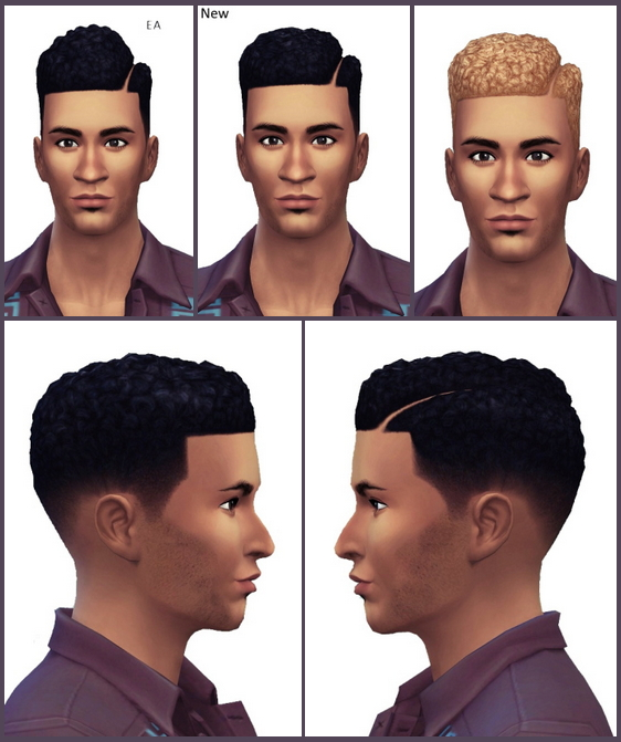 Sims 4 Hard Part Afro Hairstyle at Birksches Sims Blog