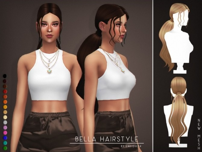 Bella Hairstyle at Enriques4 image 1681 670x503 Sims 4 Updates
