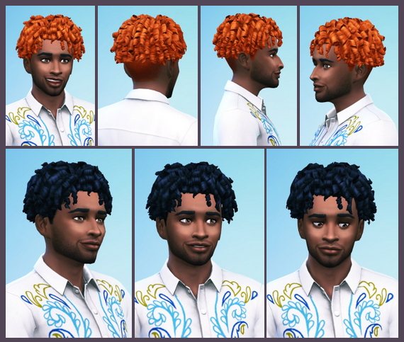 Sims 4 Tight Curls shaved male hair at Birksches Sims Blog