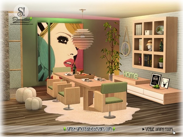 Vogue dining set by SIMcredible at TSR image 1702 Sims 4 Updates