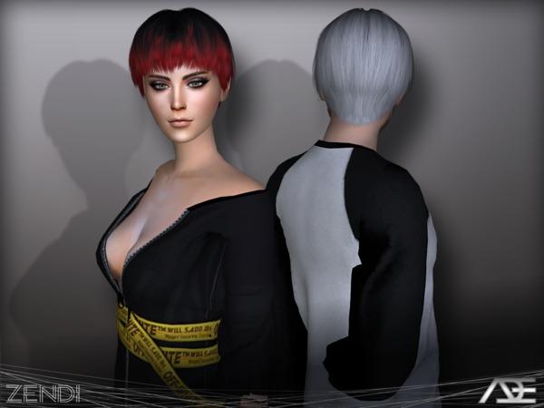 Sims 4 Zendi hair by Ade Darma at TSR