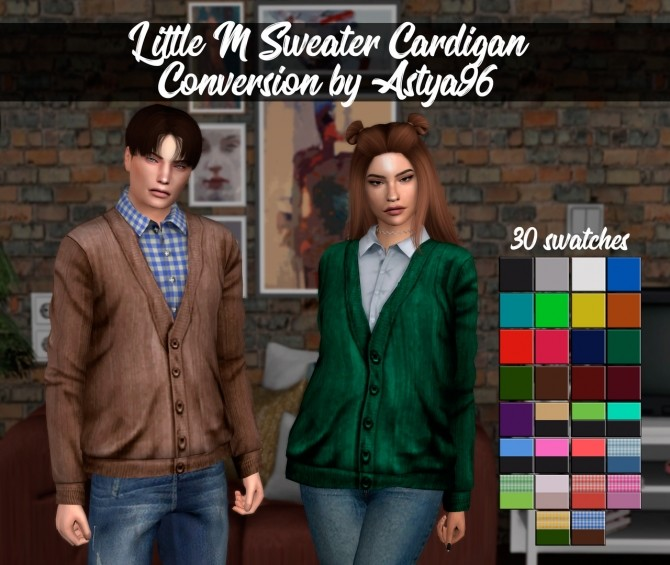 LittleM Sweater Cardigan Conversion at Astya96 image 1731 670x565 Sims 4 Updates