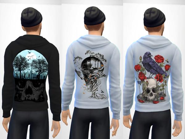 Sims 4 Skull Hoodie by darlingNikki<3 at TSR