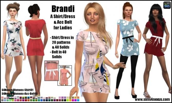 Sims 4 Brandi dress by SamanthaGump at Sims 4 Nexus