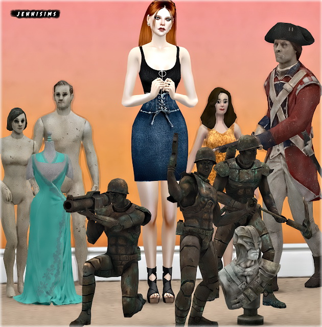 Mannequin Sets (7 Items) at Jenni Sims image 1753 Sims 4 Updates