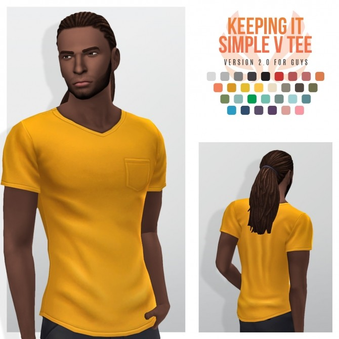Simple V Necks Keeping It Simple and Stripe My V Tees at Simsational Designs image 1766 670x670 Sims 4 Updates