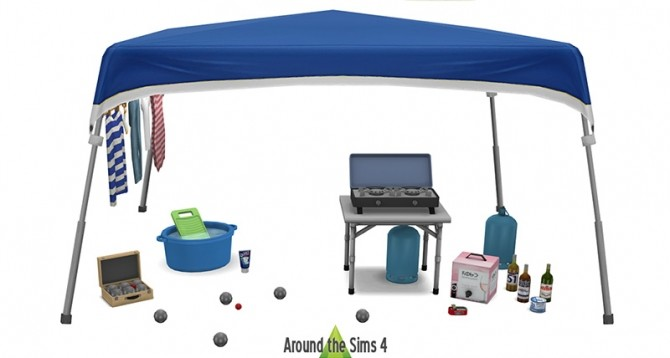 Sims 4 Camping & Pétanque by Sandy at Around the Sims 4