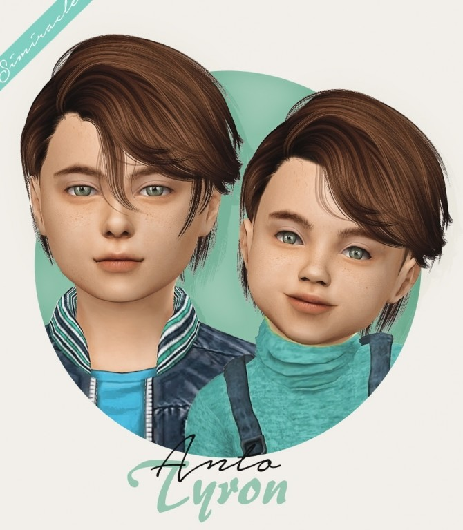 Sims 4 Anto Tyron hair kids & toddlers at Simiracle