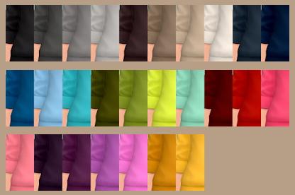 Sims 4 Belen Sweatshirt Solid Recolors at Tukete