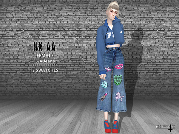 NXAA 3/4 Jeans by Helsoseira at TSR image 1826 Sims 4 Updates