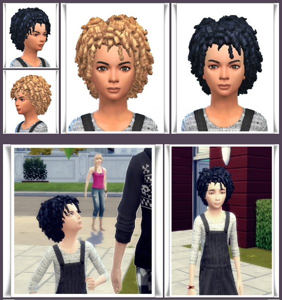 Sims 4 Just Kid Curls at Birksches Sims Blog