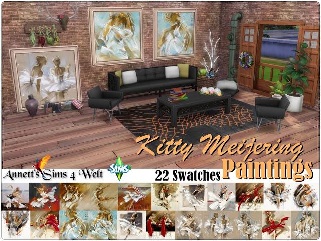 Sims 4 Kitty Meijering Paintings at Annett's Sims 4 Welt