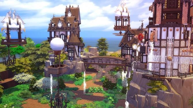Sims 4 Floating Steampunk House at Akai Sims – kaibellvert
