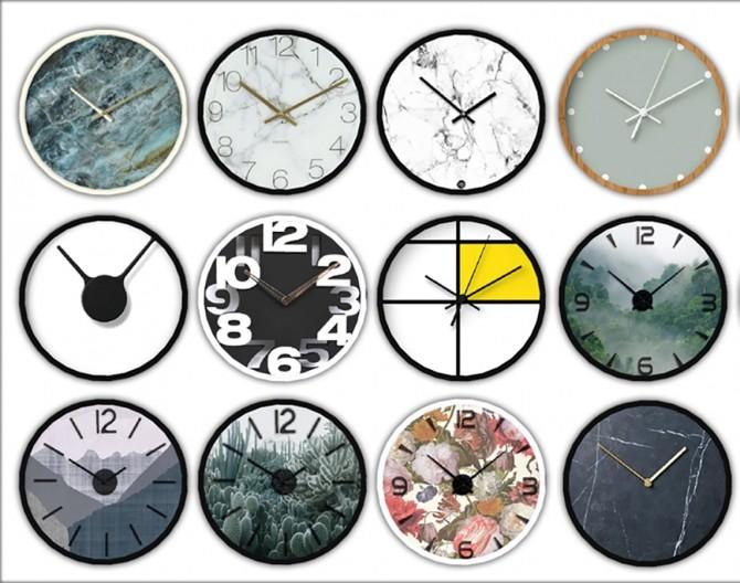 Sims 4 Caro Wall Clock at Leo Sims