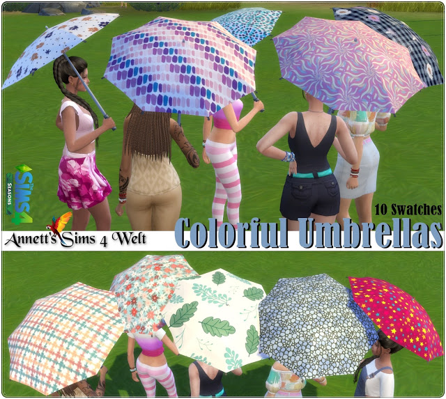 Colorful Umbrellas at Annett's Sims 4 Welt image 1892 Sims 4 Updates