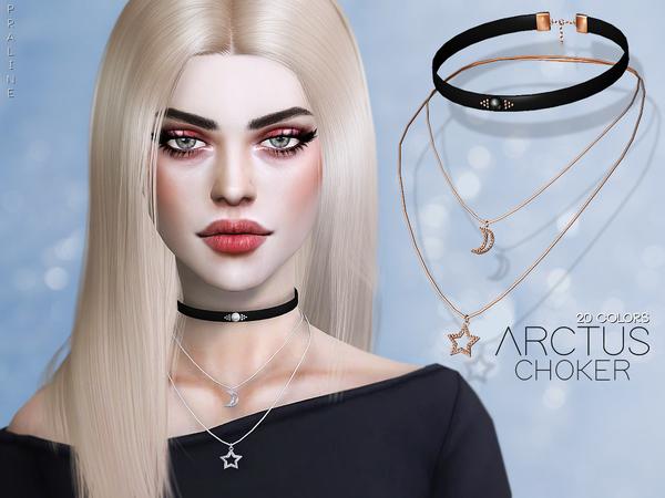 Sims 4 Arctus Choker by Pralinesims at TSR