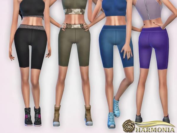 Sims 4 Slinky High Waisted Cycle Shorts by Harmonia at TSR