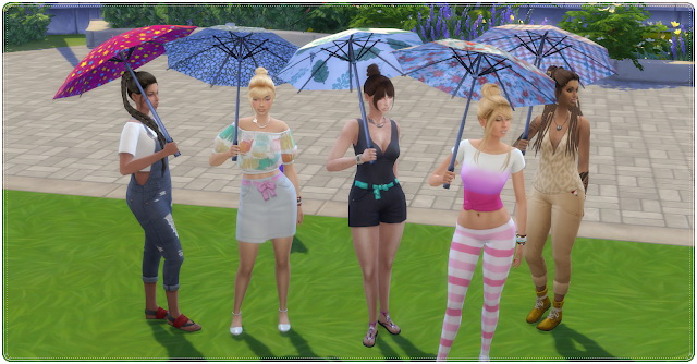 Colorful Umbrellas at Annett's Sims 4 Welt image 1913 Sims 4 Updates