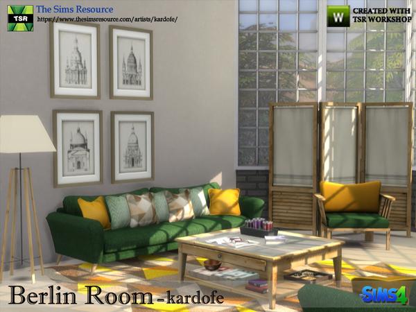 Sims 4 Berlin Room by kardofe at TSR