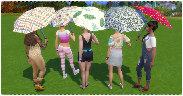 Sims 4 Colorful Umbrellas at Annett's Sims 4 Welt