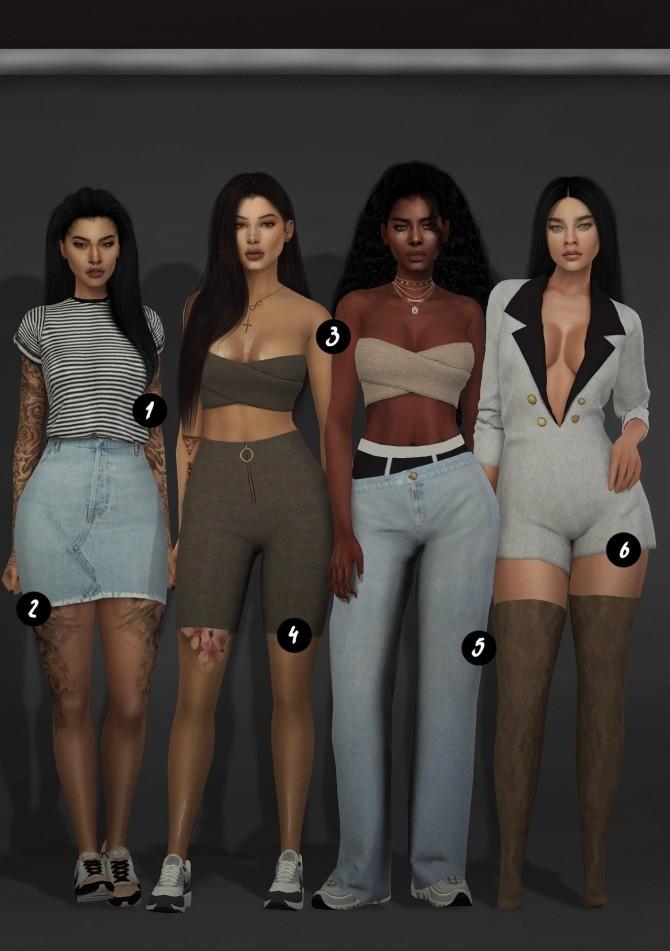 Sims 4 CC Clothes DUMP at Slay Classy