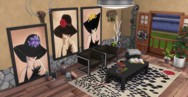Sims 4 Lorraine Wood Paintings at Annett's Sims 4 Welt