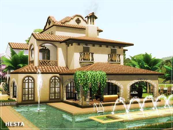 Hesta traditional home by marychabb at TSR image 197 Sims 4 Updates
