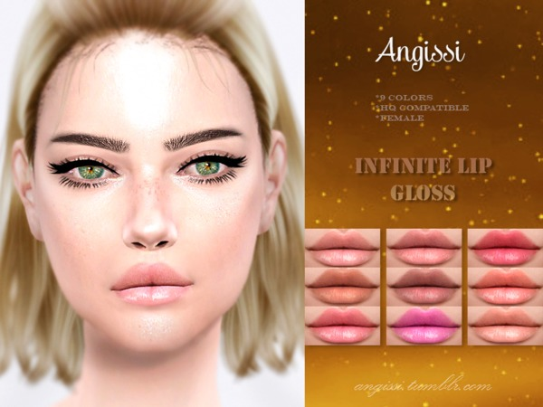 Infinite lip gloss by ANGISSI at TSR image 1971 Sims 4 Updates