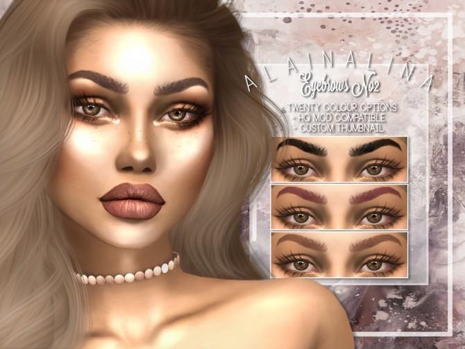 Eyebrows No2 at AlainaLina image 2017 670x503 Sims 4 Updates