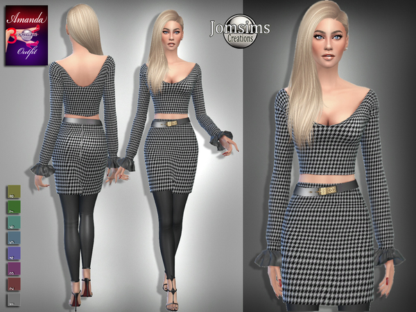 Sims 4 Amanda outfit 3 by jomsims at TSR