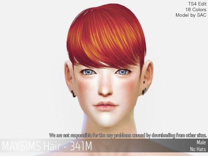 Sims 4 Hair 341 M at May Sims