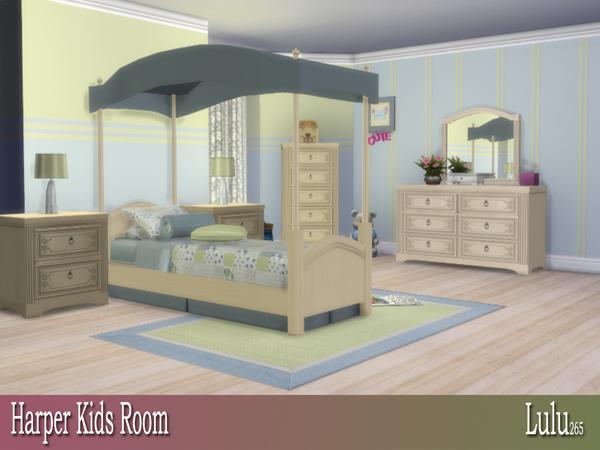 Sims 4 Harper Kids Bedroom by Lulu265 at TSR