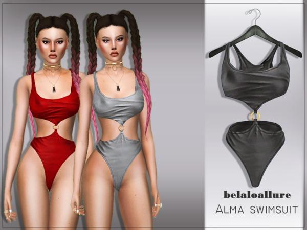 Sims 4 Belaloallure Alma swimsuit by belal1997 at TSR