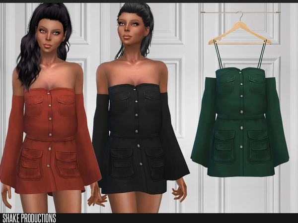 Sims 4 157 Dress by ShakeProductions at TSR