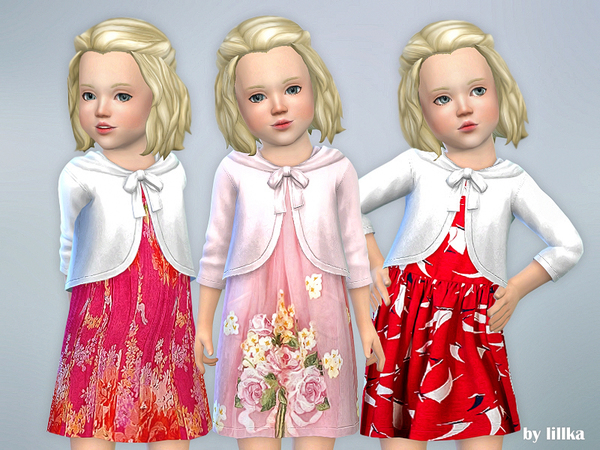 Sims 4 Toddler Dresses Collection P68 by lillka at TSR