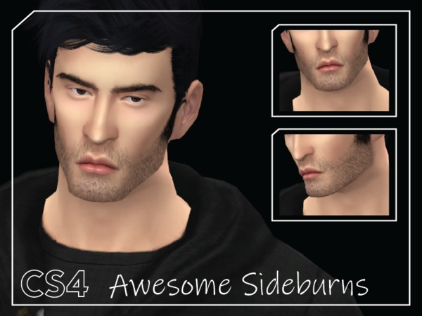 Sims 4 Awesome Sideburns by Choi Sims 4 at TSR