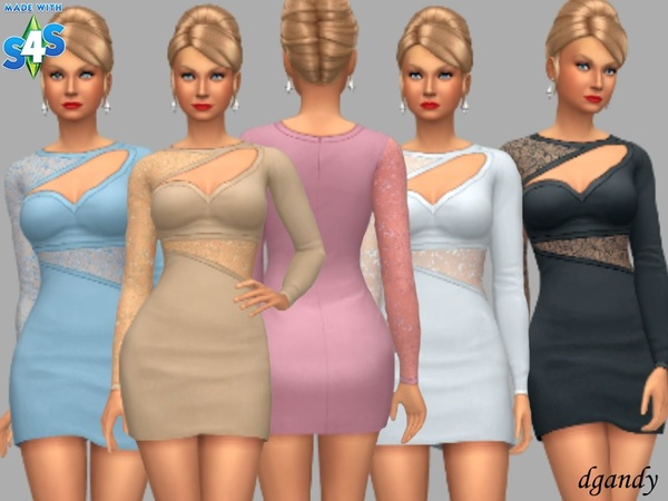 Ellie silky short dress by dgandy at TSR image 225 Sims 4 Updates
