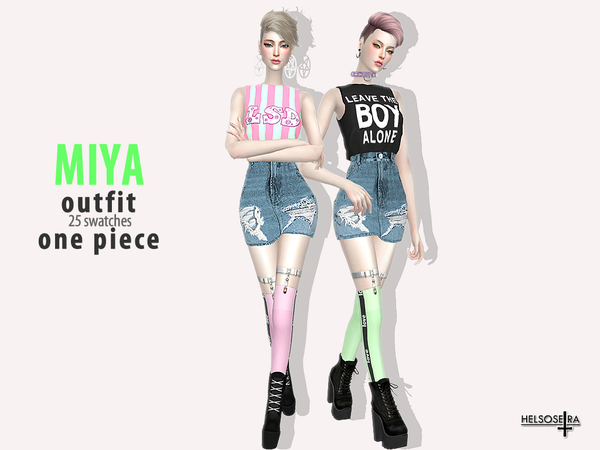 MIYA One piece Outfit by Helsoseira at TSR image 226 Sims 4 Updates