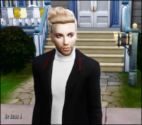 Sims 4 3to4 Hair Conversion Male Sleek at Julietoon – Julie J
