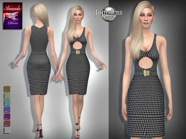 Sims 4 Amanda dress 5 by jomsims at TSR