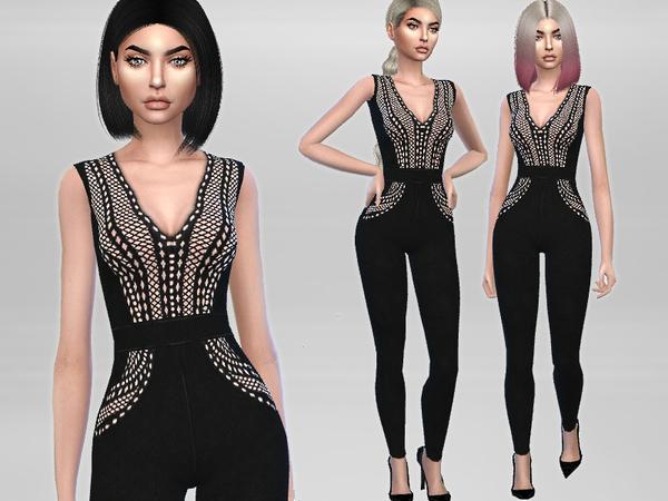 Sims 4 Saskia Jumpsuit by Puresim at TSR