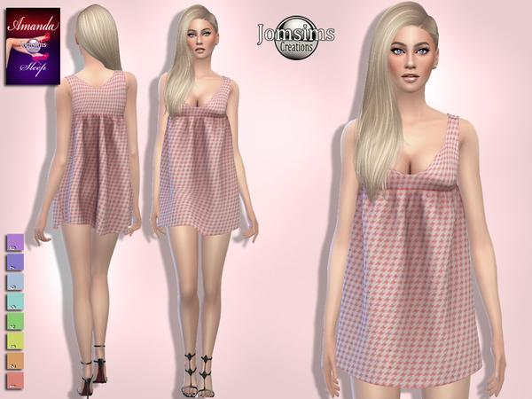 Sims 4 Amanda sleep dress by jomsims at TSR