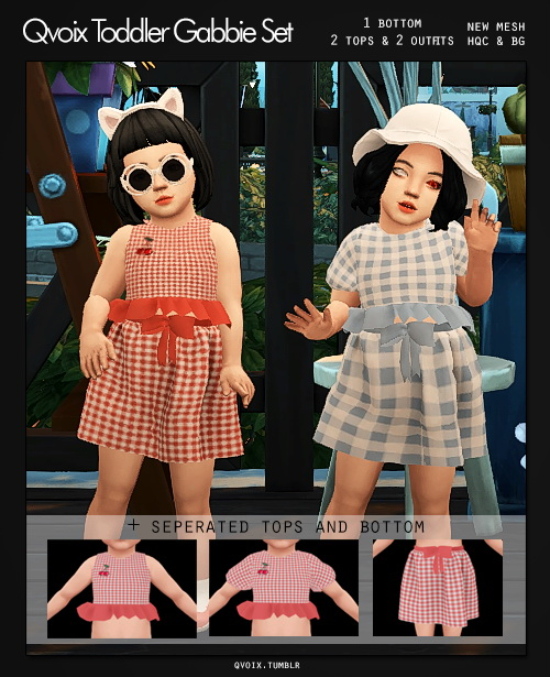 Sims 4 Toddler Gabbie Set at qvoix – escaping reality